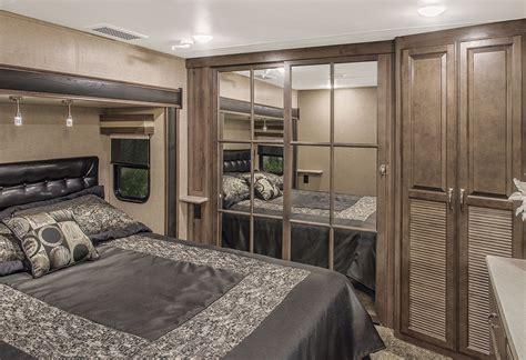 rv bedroom venom v3911tk luxury fifth wheel toy hauler k z rv