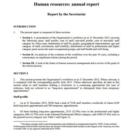 human resources report template 18 free hr report templates word pdf ppt excel format
