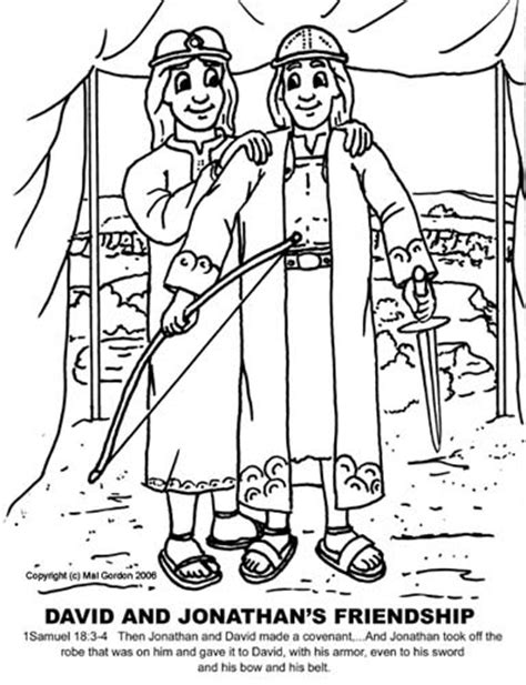 David And Jonathan Coloring Pages news children s church david and jonathan are friends