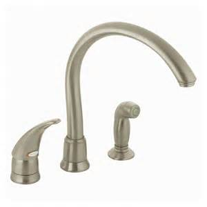 moen monticello kitchen faucet shop moen monticello stainless steel single handle kitchen faucet with side spray at lowes