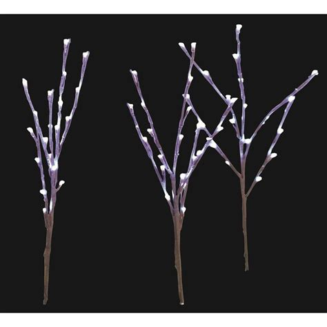 home accents holiday led pathway twig lights set of 3