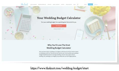 Wedding Budget Calculator The Knot wedding budget calculator the knot mini bridal