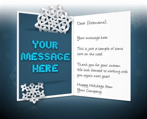 happy holidays from company card template ecards for business corporate custom