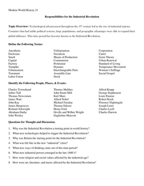 Industrial Revolution Essay Questions by Essay Questions About The Industrial Revolution Writersunit Web Fc2