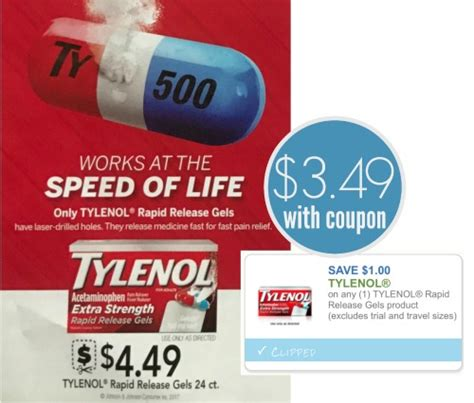 Tylenol Rapid Release Sweepstakes - tylenol rapid release coupon for the upcoming publix sale