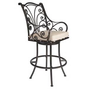 outdoor swivel bar stools with arms ashbury swivel bar stool with arms hauser s patio