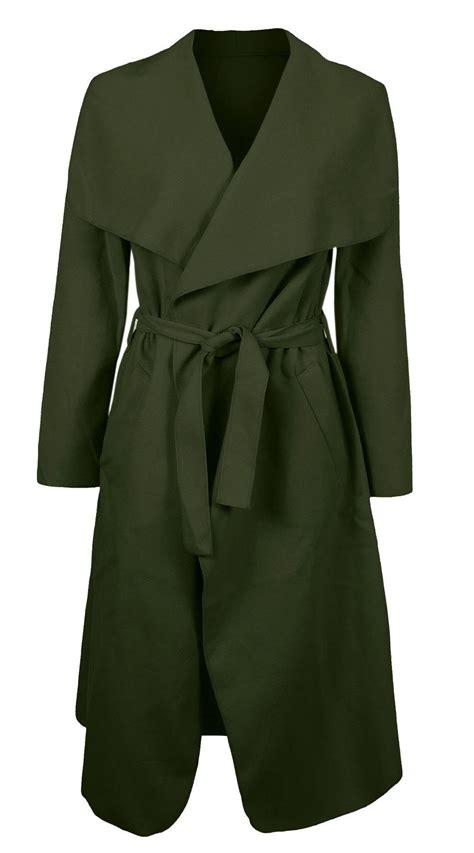 drape jacket womens new womens drape belt waterfall long coat abaya sleeve