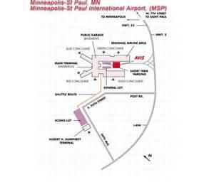 Car Rental Agencies At Msp Airport Avis Rent A Car Individual Airport Map