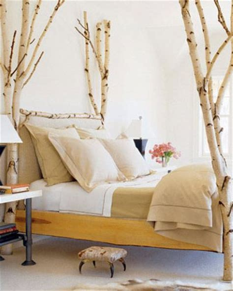 tree bed frame a bed frame made of birch trees earthy inspirations