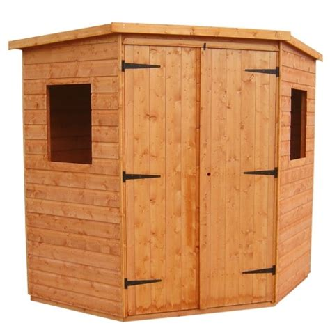 Corner Sheds 6x6 by Tiger 6x6 Deluxe Corner Timber Shed