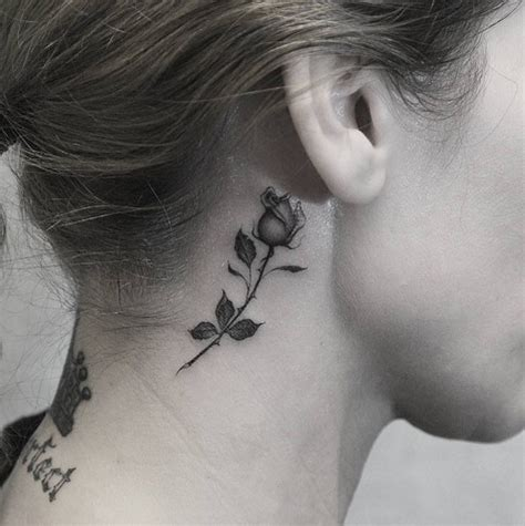 behind the ear rose tattoo 99 girly tattoos to consider for 2017 tattooblend