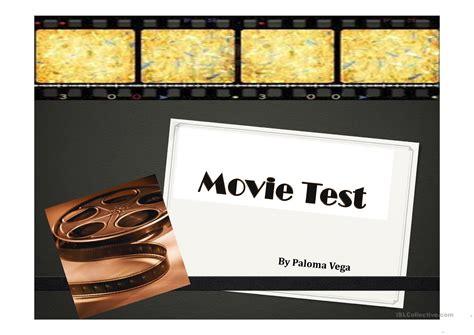 film quiz english movie test worksheet free esl projectable worksheets
