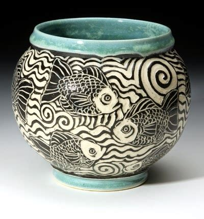 Handmade Pots Design - westville ceramics sgraffito coil pot