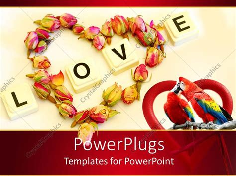 love themes words powerpoint template love theme with word love and heart