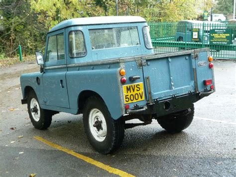 old land rover truck very original 1980 series 3 arrives from hertfordshire