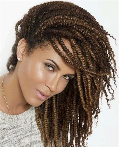 fox braid hairstyle updo african american all twisted up 20 hot kinky twists hairstyles to try