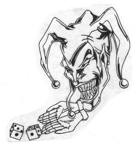 joker tattoo designs black white collection of 25 white teeth joker clown design