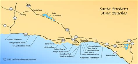 california map of beaches goleta directions