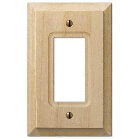 amerelle 180ttd baker unfinished alder wood 2 toggle 1 duplex wall plate amerelle baker unfinished alder wood wallplates and