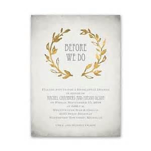 leaves of gold rehearsal dinner invitation invitations by