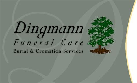 dingmann funeral care burial cremation services