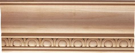 Wood Ceiling Molding by Newton Wood Crown Molding Carved With Egg And Dart Design