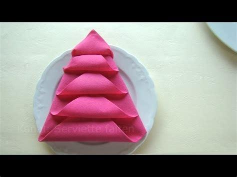 weihnachtsdeko basteln servietten falten weihnachten