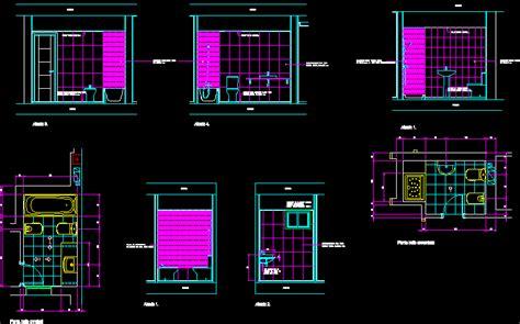bathroom details dwg section  autocad designs cad