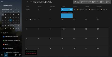 Calendario Windows 10 Correo Y Calendario Se Actualizan A 241 Adiento Theme Oscuro Y
