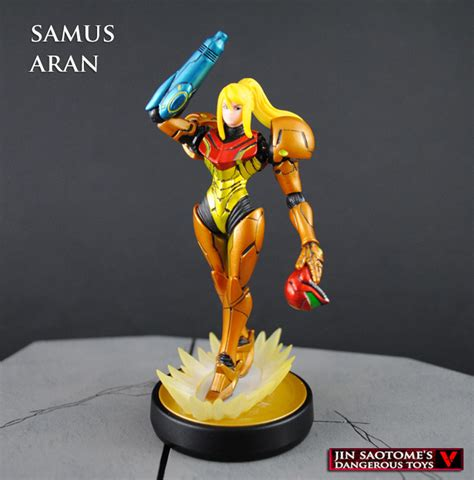 Amiibo Samus custom samus aran amiibo figure by jin saotome on deviantart