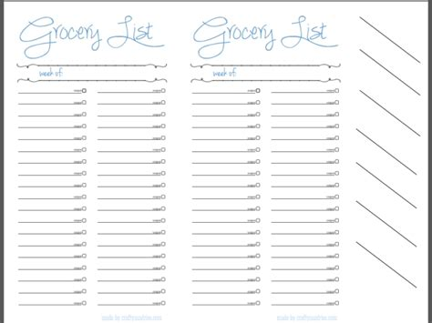 grocery store sections list grocery list crafty sundries