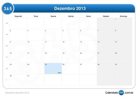 Calendario Dezembro Calend 225 Dezembro 2013