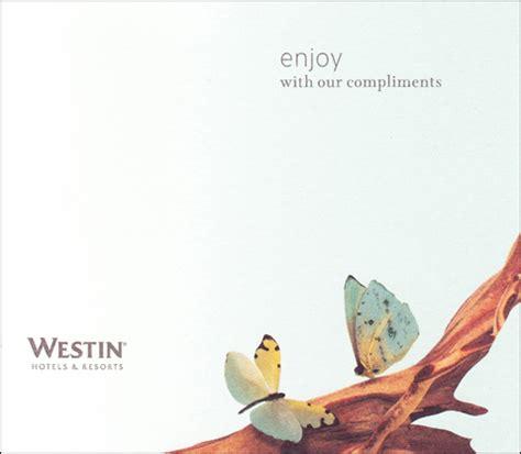 Westin Gift Card - westin hotels resorts branding melinda w reiss