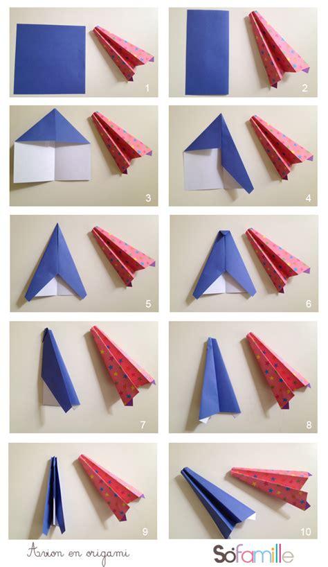 Origami Avion - avion en papier origami comment r 233 aliser un avion en