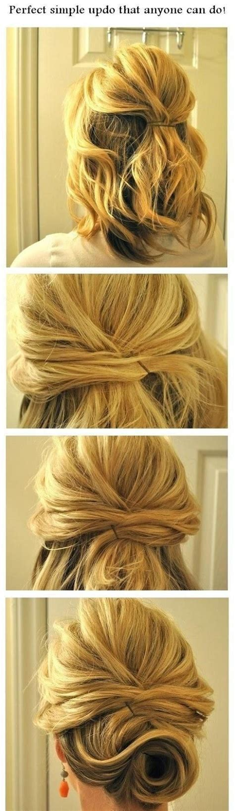 easy updo hairstyle tutorial for 14 easy step by step updo hairstyles tutorials pretty