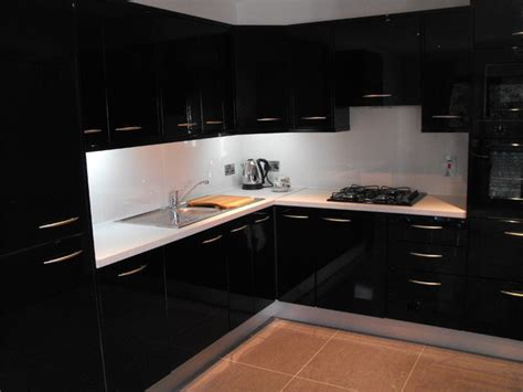 High Gloss Black Kitchen Cabinets | black high gloss kitchen modern kitchen dublin by