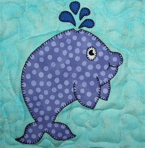Patterns For Applique by Whale Pdf Applique Pattern Marine Or Animal Quilt
