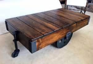Homemade Coffee Table by 5 Creative Diy Wood Coffee Table Ideas