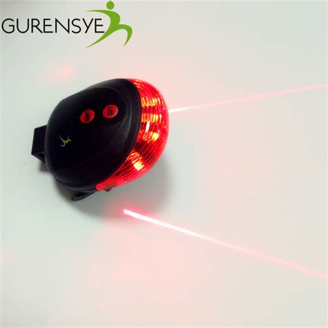 are led lights safe waterproof rear bicycle light have 7 cool flash mode