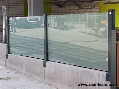 Zaun Aus Glas by Zaun Und Tor Referenzen Zaunteam Glas Sichtschutz
