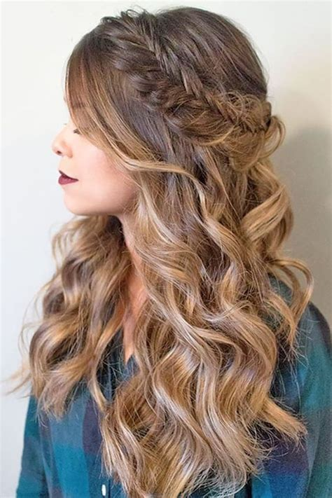 ombre half up half down hairstyles 24 modish ombre wedding hairstyles wedding prom and