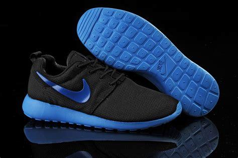 nike roshe run mens running shoe black blue nike roshe