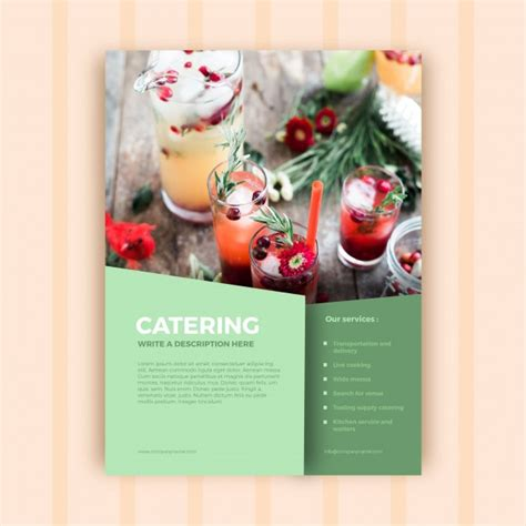 catering brochure templates abstract catering business brochure template vector free
