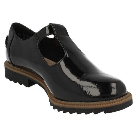 t flat shoes clarks t bar buckle flat shoes griffin monty ebay