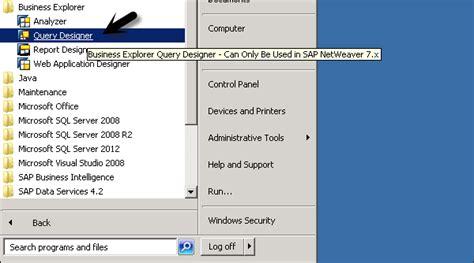 tutorial sap query designer sap bex query designer