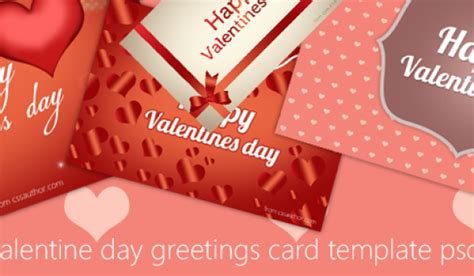 Valentines Day Card Template Psd by Greetings Archives 187 Css Author