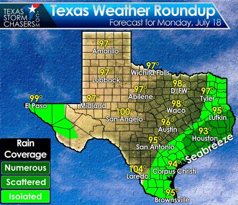weather map texas today seabreeze showers this afternoon in southeast texas stagnant weather pattern this week texas