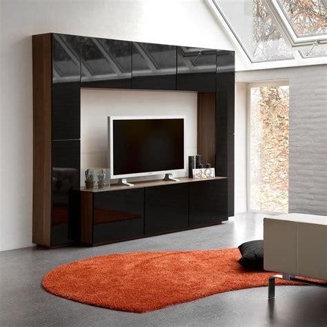 wandschrank tv verstecken wohnwand blues i in weiss schwarz 32499 b2btrade