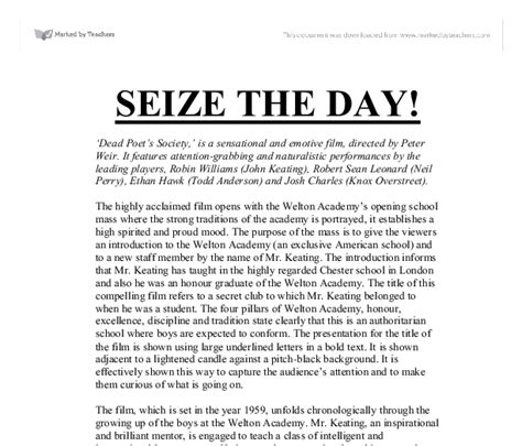 Dead Poets Society Essays by Dead Poets Society Introduction Essay Pered Chef Resume