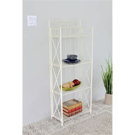 Bakers Rack White by 4 Tier Bakers Rack In White 3521